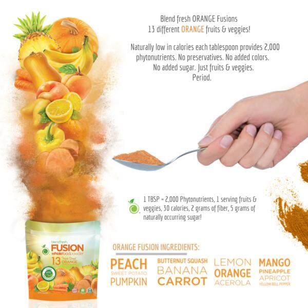 BLENDFRESH 13 Orange Fruits & Vegetables Whole Food Powder, 160g