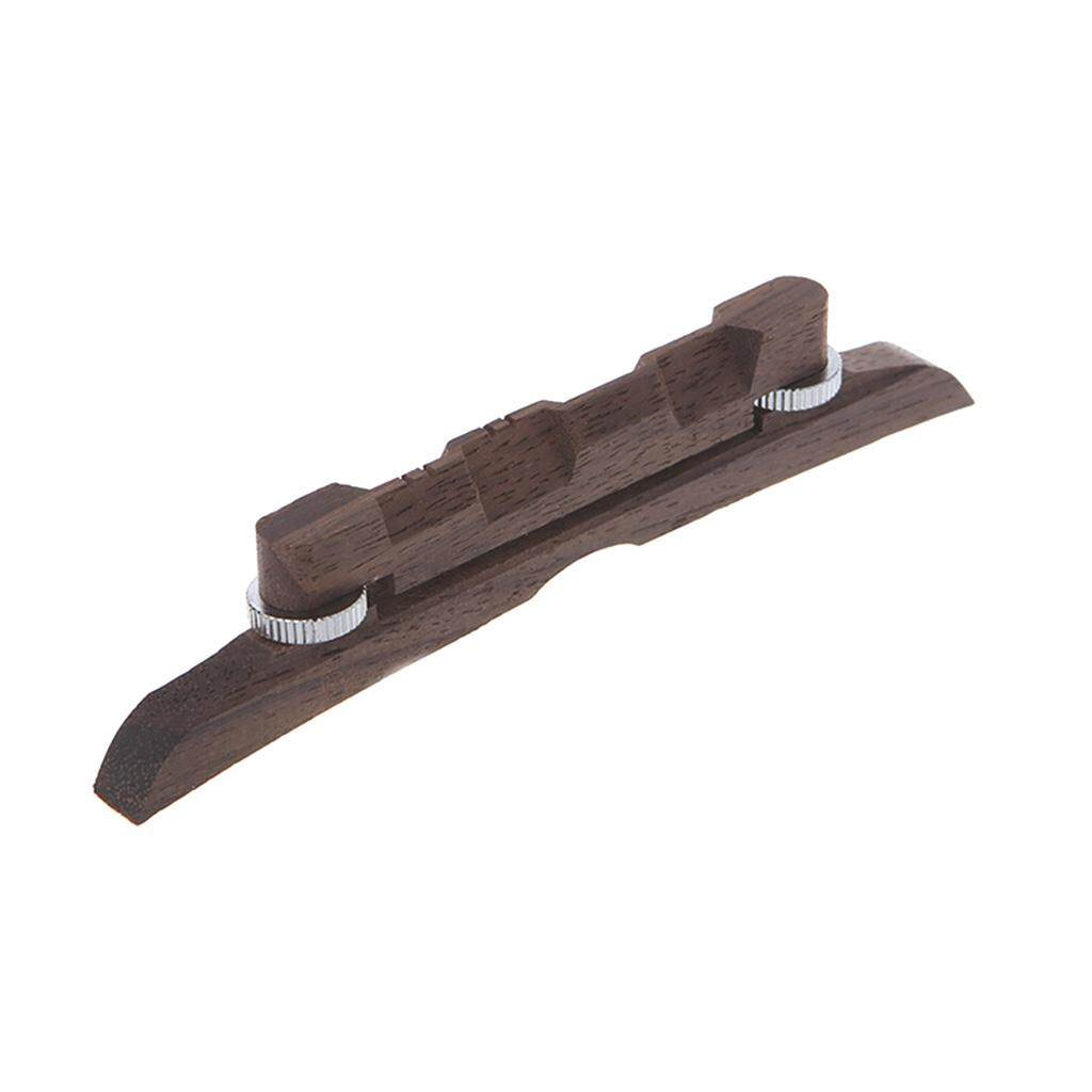 Detail Gambar Ebony Adjustable Mandolin Bridge Durability Guitar Parts & Accessories - intl Terbaru