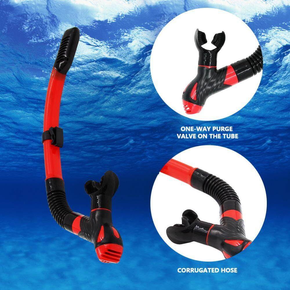 Justgogo WHALE Snorkeling Tube Underwater Water Sports Silicone Swimming Diving Snorkeling Dry Air Breathing Tube