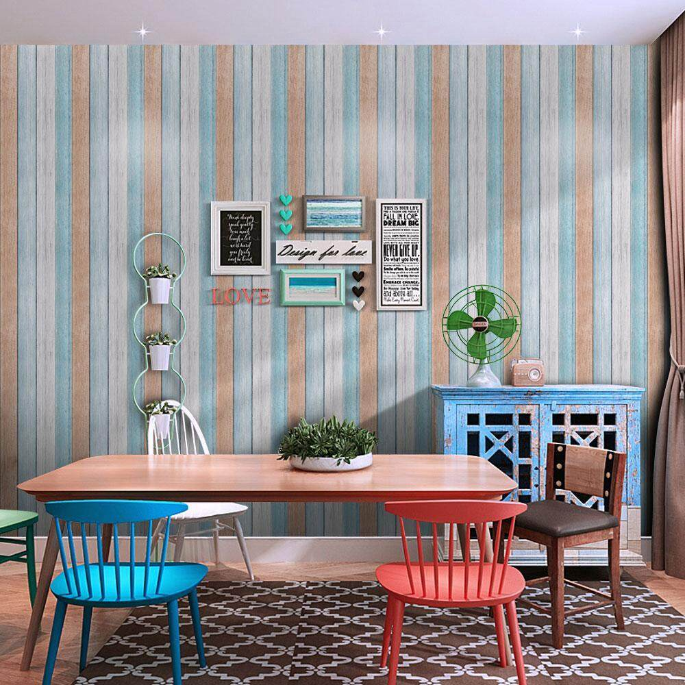 cusepra 3D Waterproof Self Adhesive Wallpaper PVC Wall Stickers For Living Room Bathroom - intl