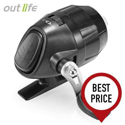 OUTLIFE FISH CLOSED WHEEL SPINCAST REEL WITH FISHING LINE (BLACK)