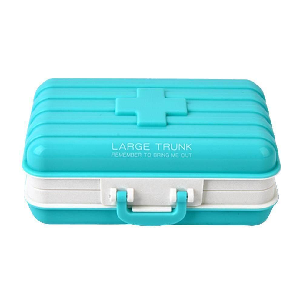 mingjue Pawaca Plastic Environmental Suitcase Kit Portable Mini Portable Folding 6 Small Kit Mini Pill Case Box