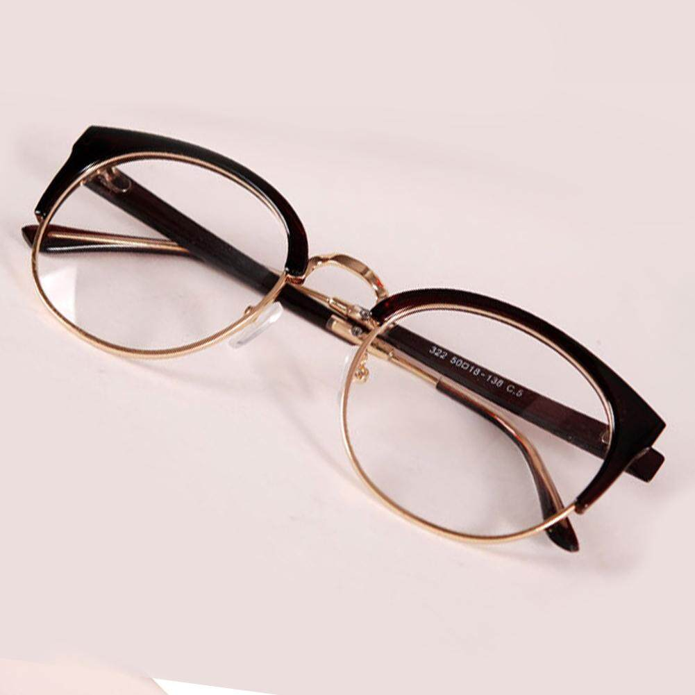 Anti-radiasi Kacamata Polos Kaca Modis Kacamata Logam + Plastik Lingkaran  Bingkai (Warna  55eb23245a