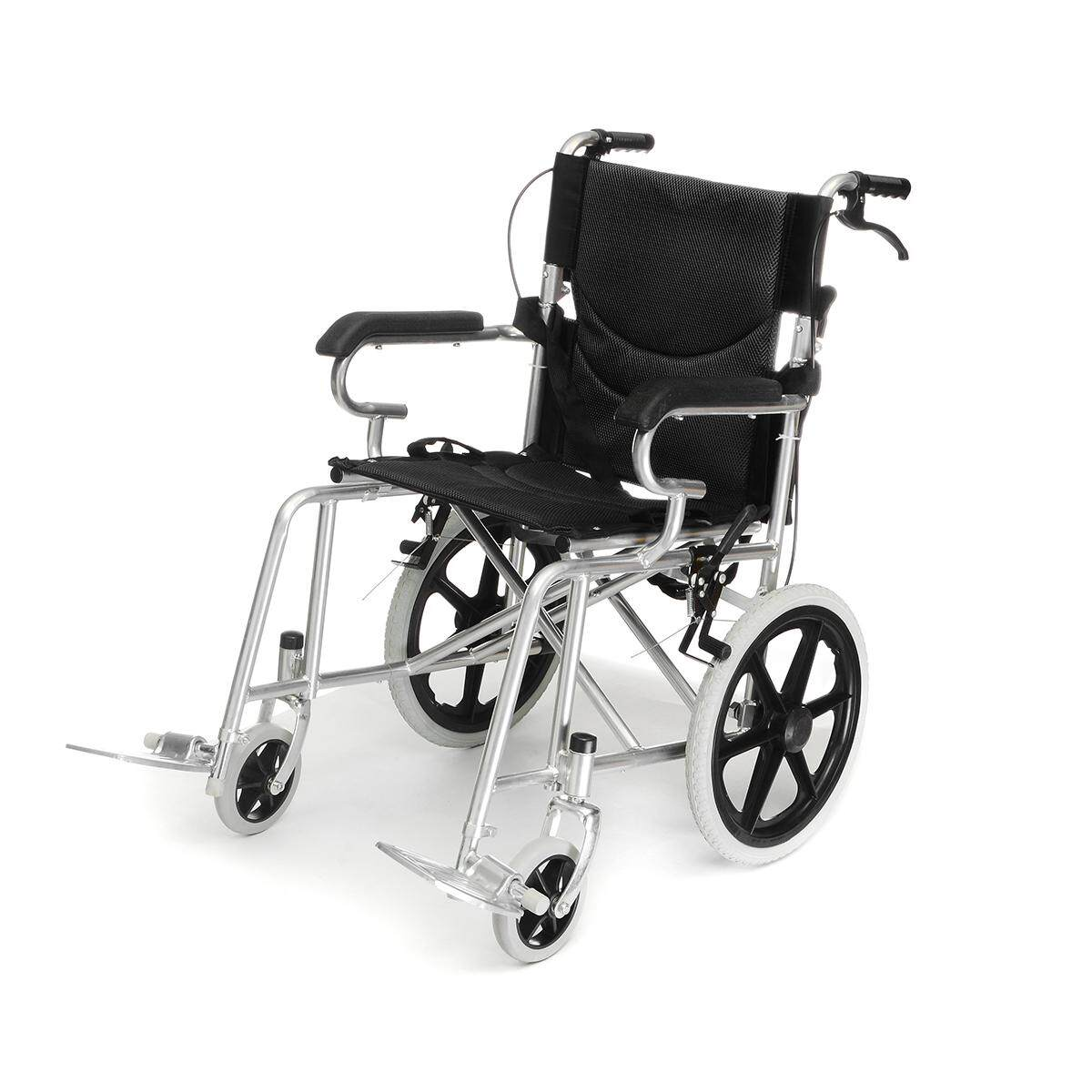 Folding Portable Wheelchair Walking Aid wheel chair Material: thicker steel tube Packing size: 93*95*27cm - intl