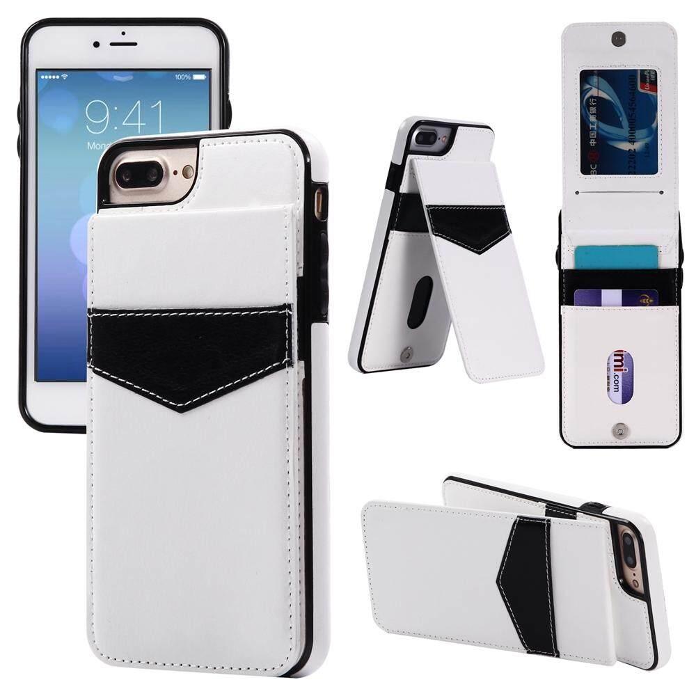 Jual Panas Naik Turun Lipat PU Kulit Dompet Warna-warni Case dengan Kartu Slot Berdiri Penahan Sarung untuk iPhone 7 plus/8 Plus-Internasional