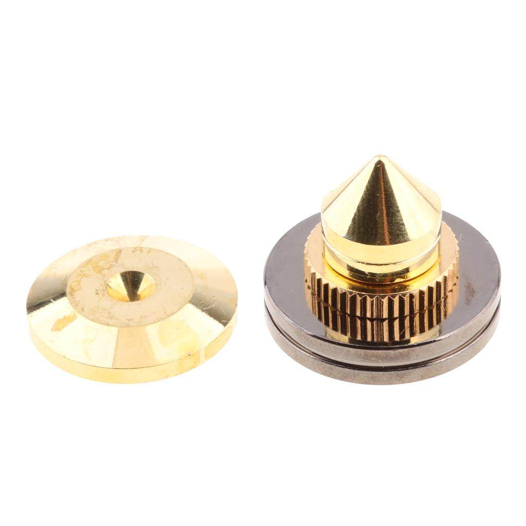 Miracle Shining Speaker Spike Golden Stand Feet Cone Base Pad - intl