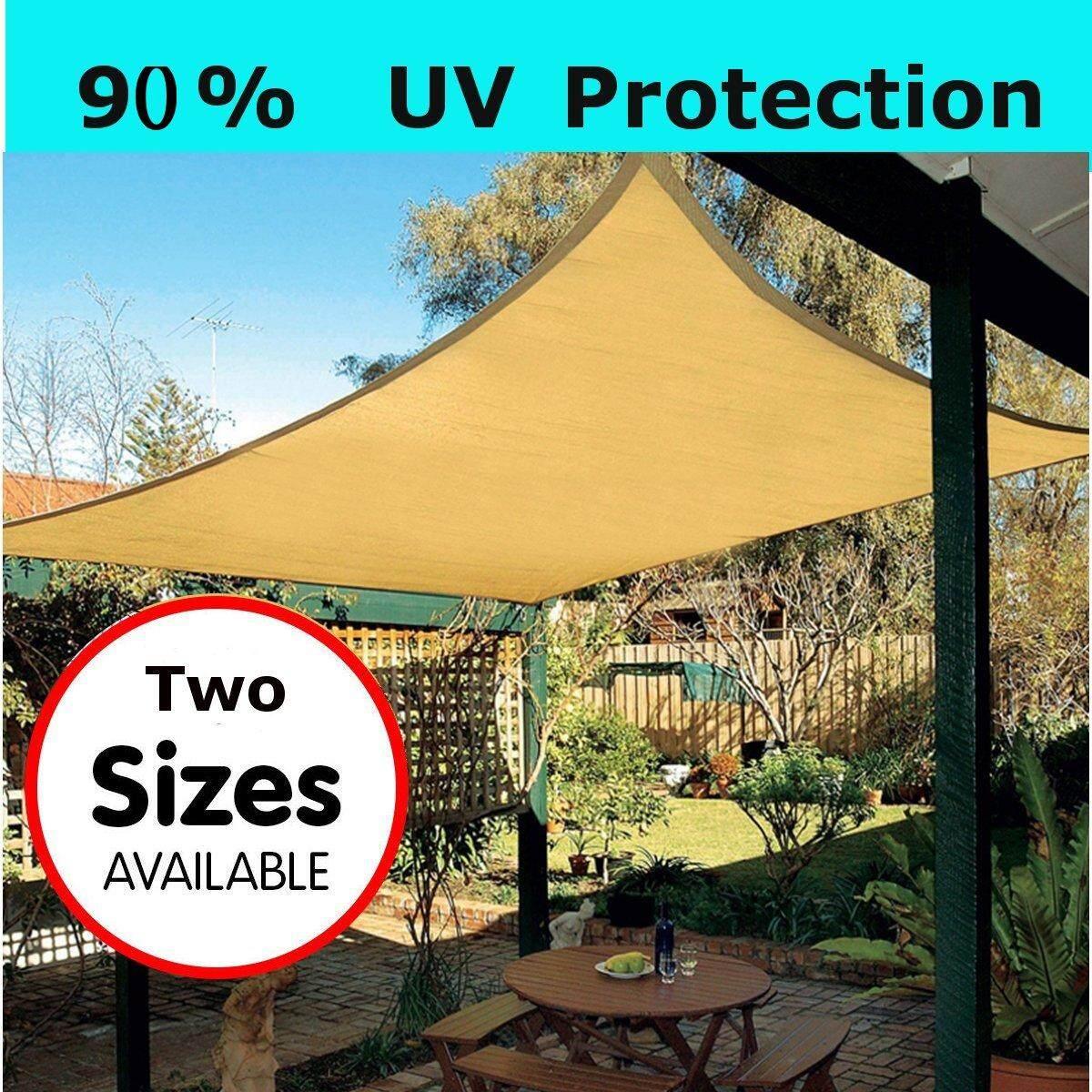 Sun Shade Sail Garden Patio Party Sunscreen Awning Canopy 98% UV Block Rectangle 4*3 m