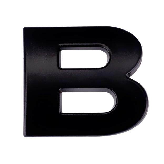 3D DIY Metalik Stiker Tempelan Alfabet Emblem Mobil Huruf Perak Lencana Decal BK Yang Fanestiy