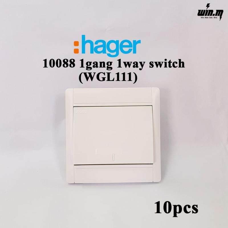 (10PCS) Hager 10088 1Gang 1Way switch socket WGL111