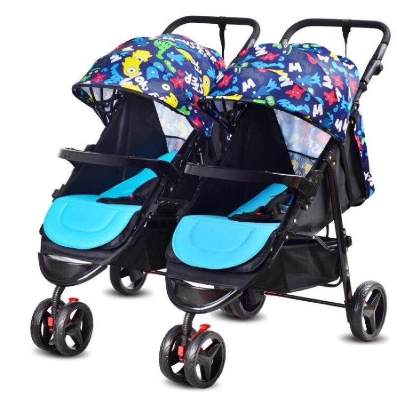 Double baby jogger,baby protect stroller - intl Singapore