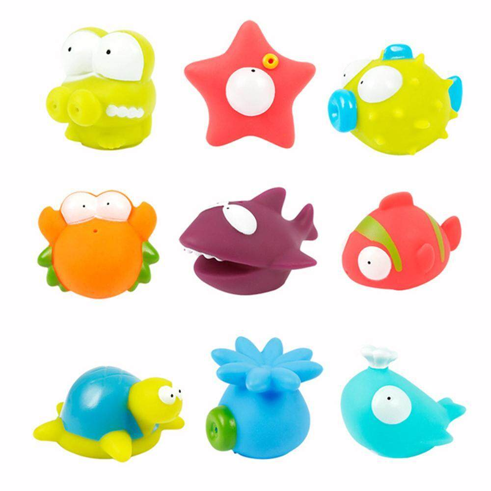 Gaodian 9 Pcs Bath Toys Spray Shower Toy Floating Animal Toy For Toddlers  Baby   Intl