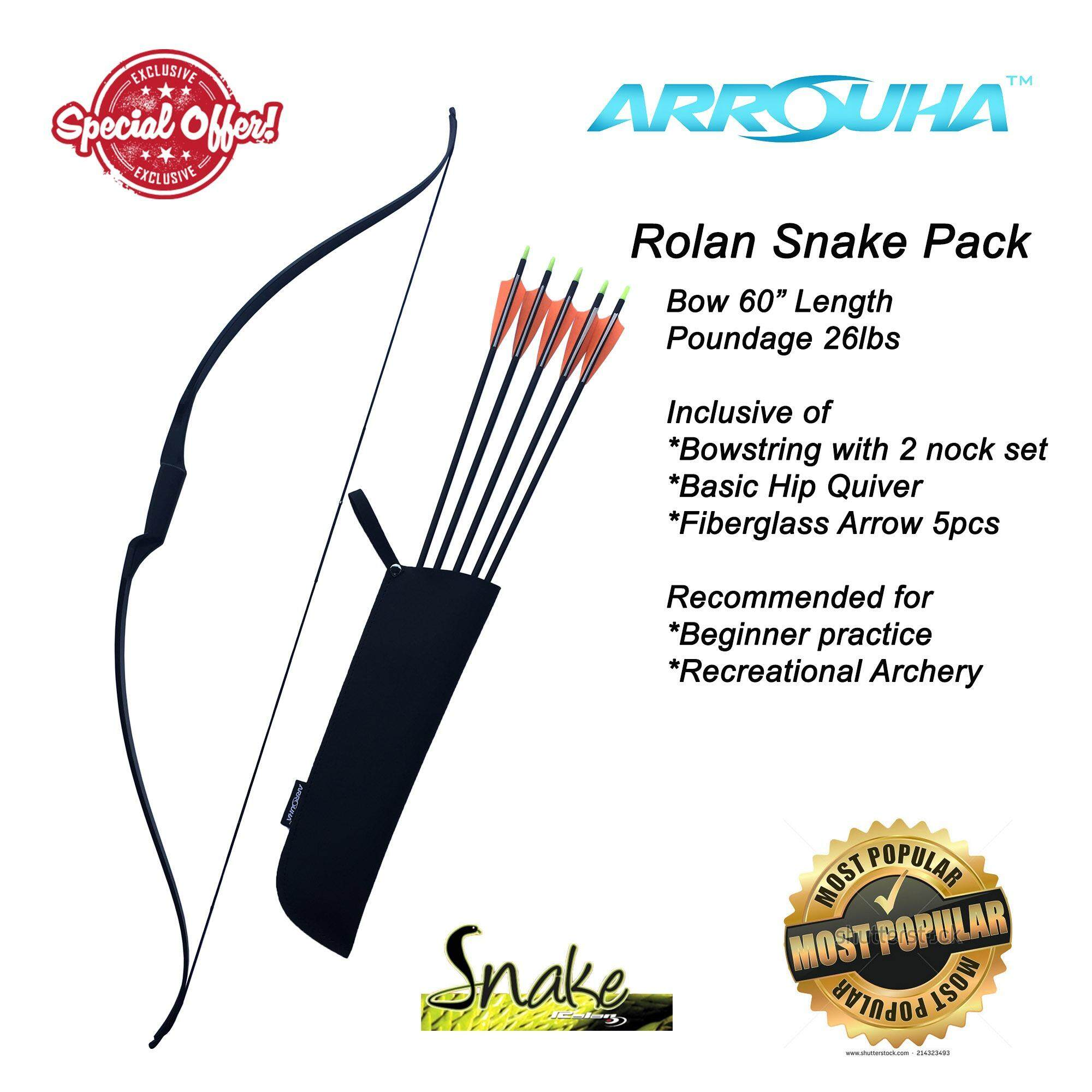 "Archery Bow Rolan Snake 60"" Package"