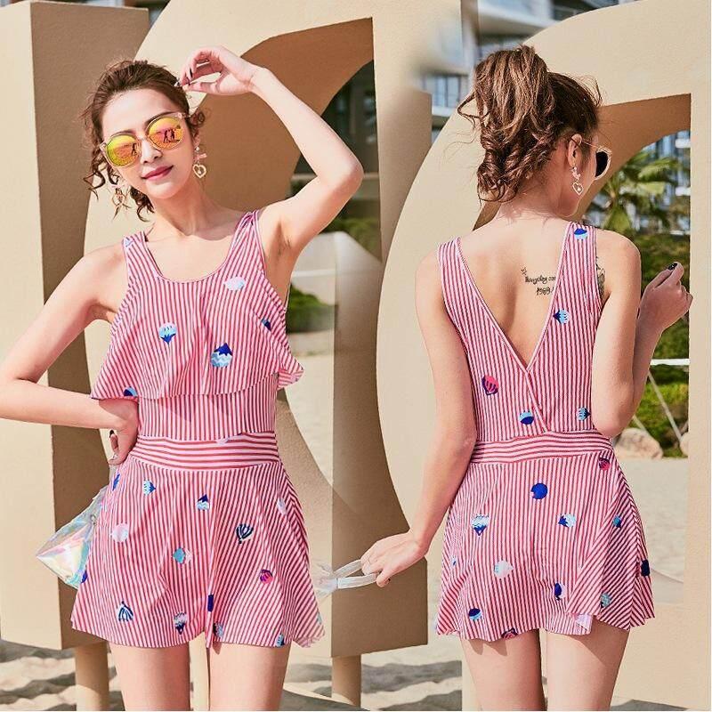 8613ede4c6 HK Mall Swimsuits One-piece Swimwear Women Swimming Suit Bathing Suit Dress  Hot Slim Spa