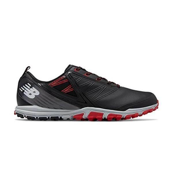 New Balance Mens Minimus SL Golf Shoe, Black/Red, 13 D D US - intl