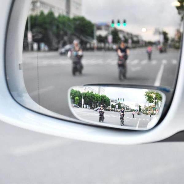 2 Chiếc Gương Chiếu Hậu Xoay 360 ° Có Thể Điều Chỉnh Gương Tròn Góc Rộng Không Khung Phổ Quát Kính HD Gương Chiếu Hậu Bên Xe Hơi