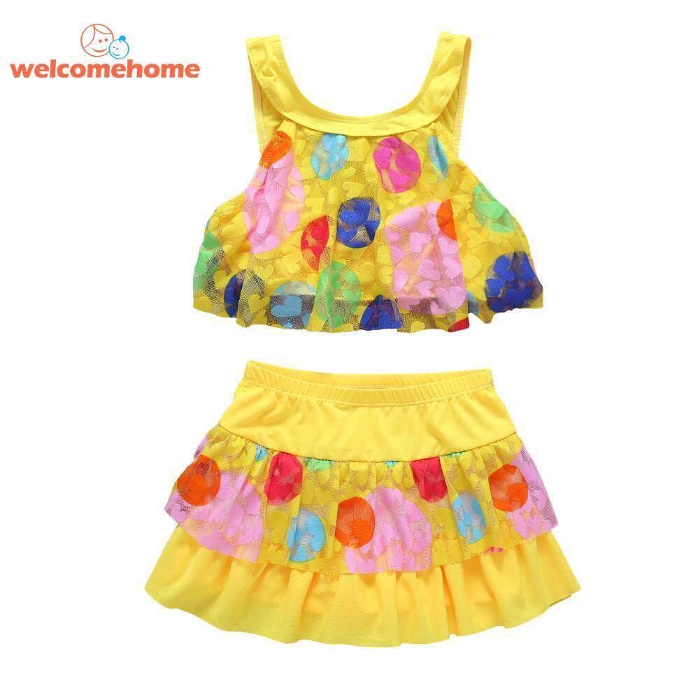 Summer Girls Kid Baby Split Swimsuit Beach Sunsuit Tops Skirt Bathing Suit - Intl By Welcomehome.