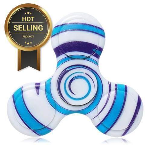 ANTI-STRESS TOY PLASTIC PATTERNED FIDGET SPINNER (BLUE) Toys for boys