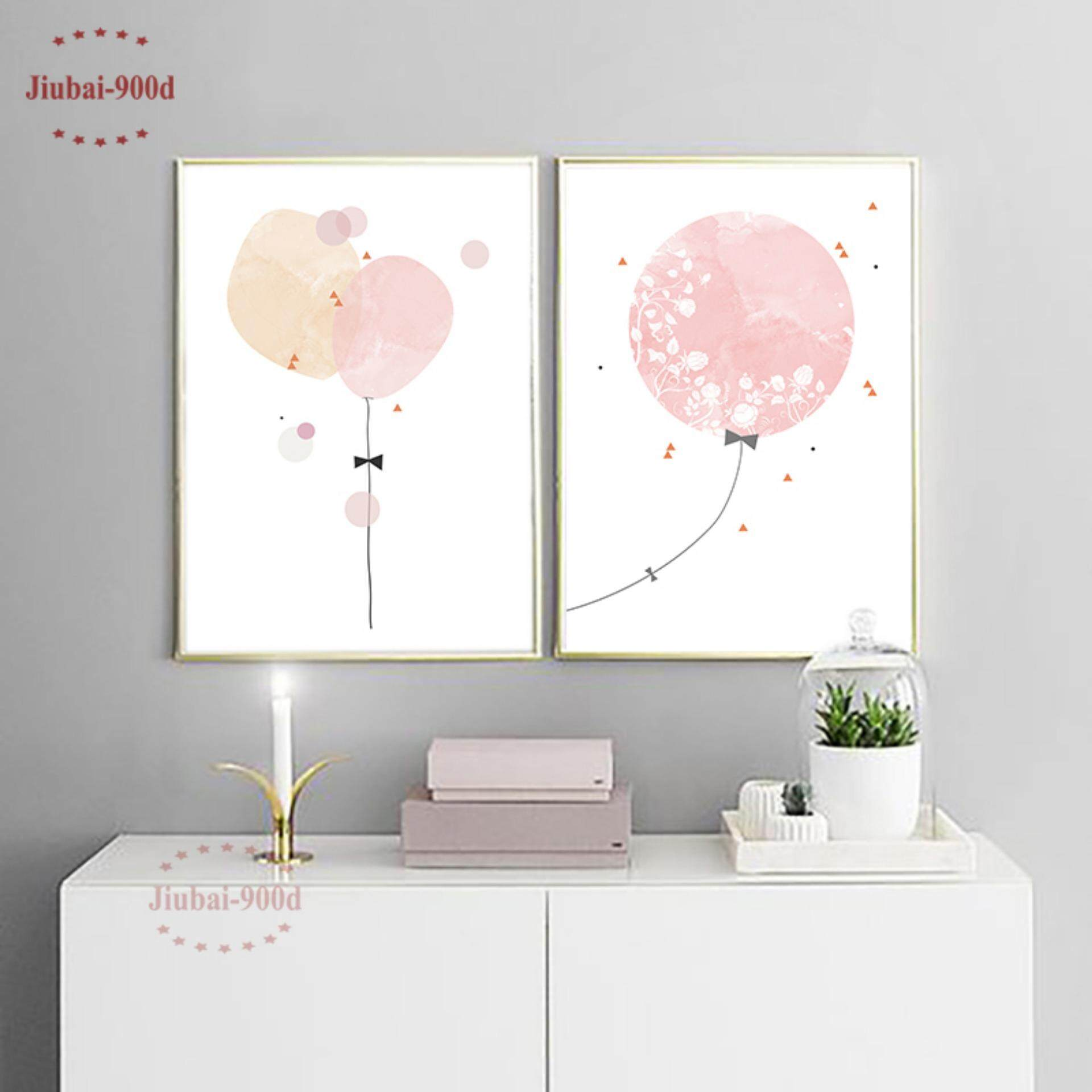2 Pieces 30X42cm Unframed Watercolor Balloon Art Print Painting Poster - intl