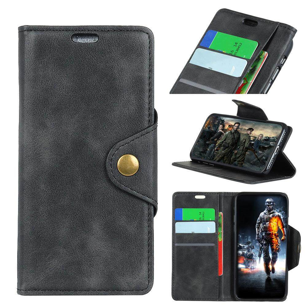 Moonmini For Huawei Honor V9 Play / 6C Pro PU Leather Wallet Case Goat Grain Flip Stand Cover with Card Slots and Copper Buckle - intl