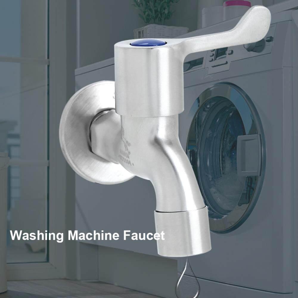 304 Anti Karat Tunggal Tuas Keran untuk Laundry Pencuci Mesin Rumah Dapur Taman-Internasional