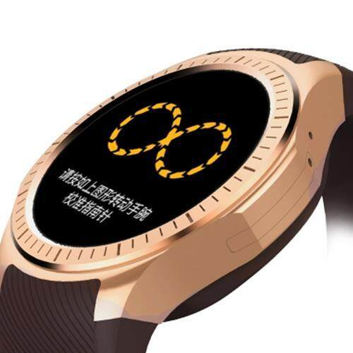 MICROWEAR L1 SMARTWATCH PHONE 1.3 INCH BLUETOOTH GPS HEART RATE MEASUREMENT PEDOMETER SLEEP MONITOR (ROSE GOLD)
