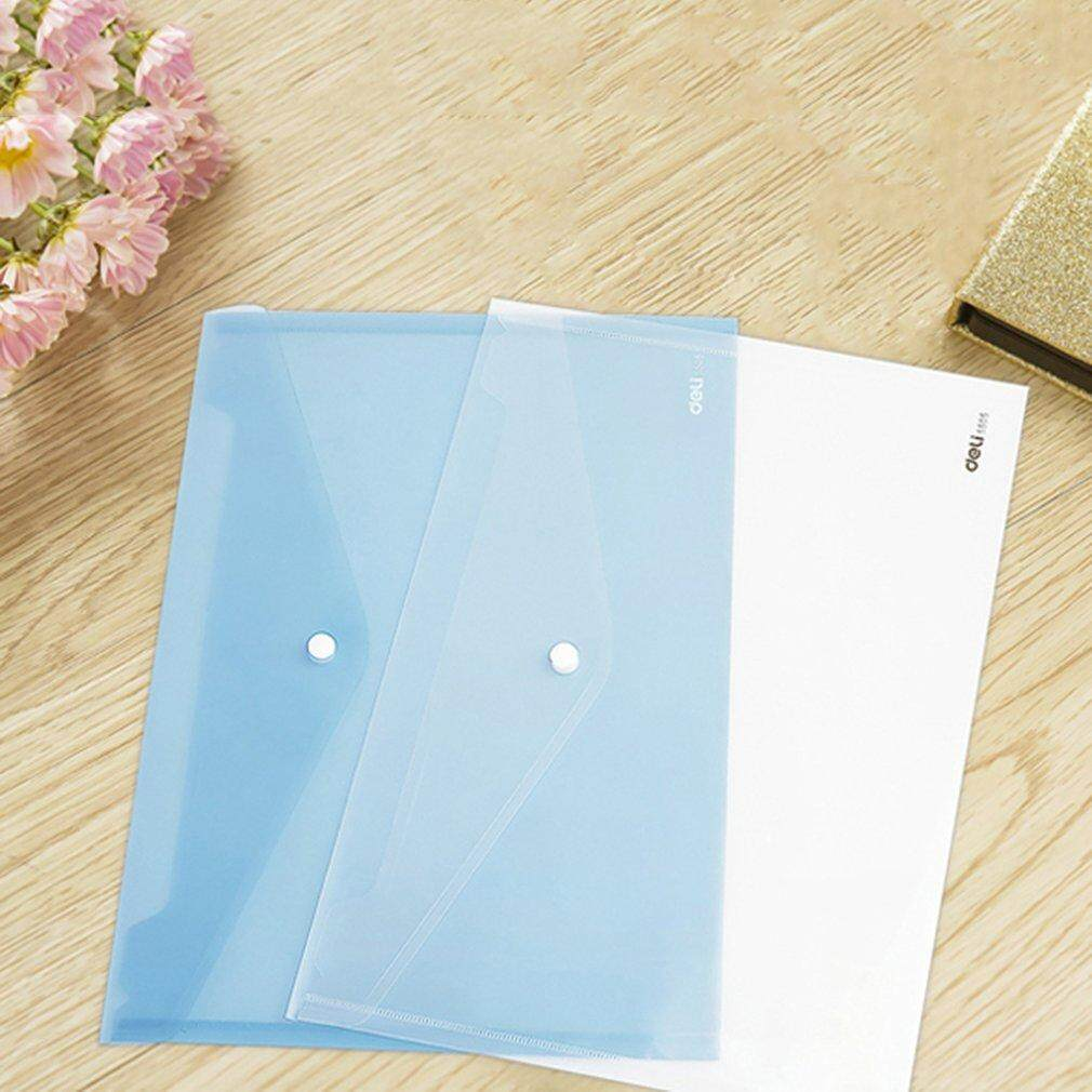Deli 5505 A4 Documents Bag File Folder With File Button Paper Organizer - intl