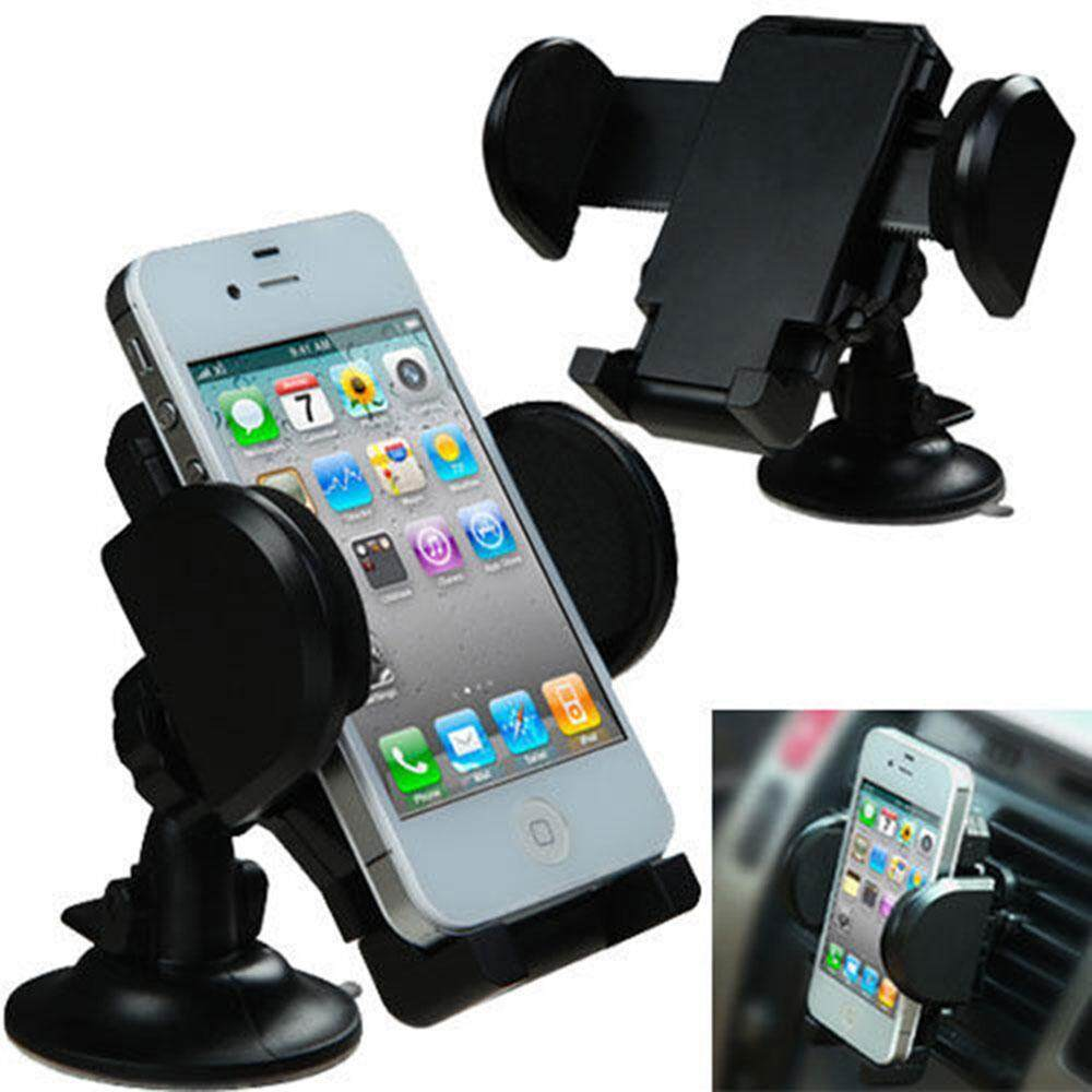 xudzhe Car Phone Mount Holder, Universal Windshield / Dashboard Car Mobile Phone Cradle 360 Degree Rotation for IPhone / Android Smartphone