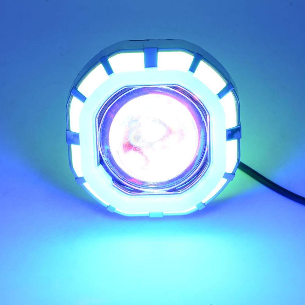 PL 12V-85V Fashion Cool Double Aperture LED Headlamp Internal Motorcycle Electric Car Spotlight