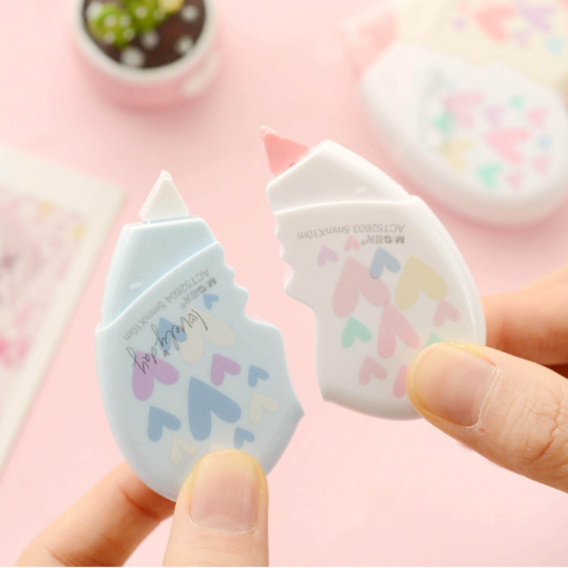 Mua Love Heart Available Students Children Supplies Shaped Correction Tape