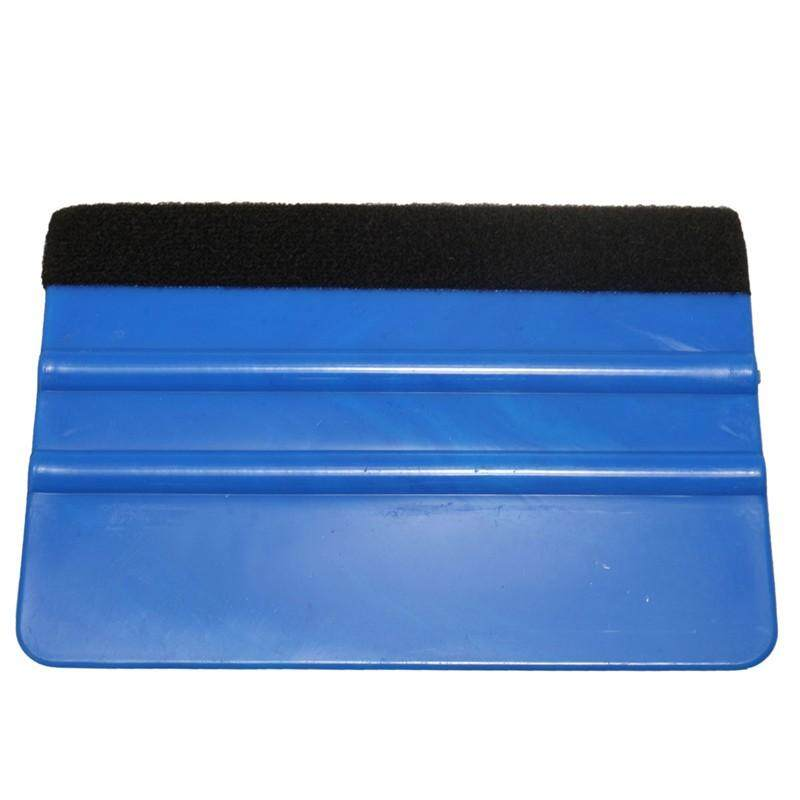 Car Vinyl Film Wrapping Tools Blue Color Scraper Squeegee With Felt Edge By Glimmer.