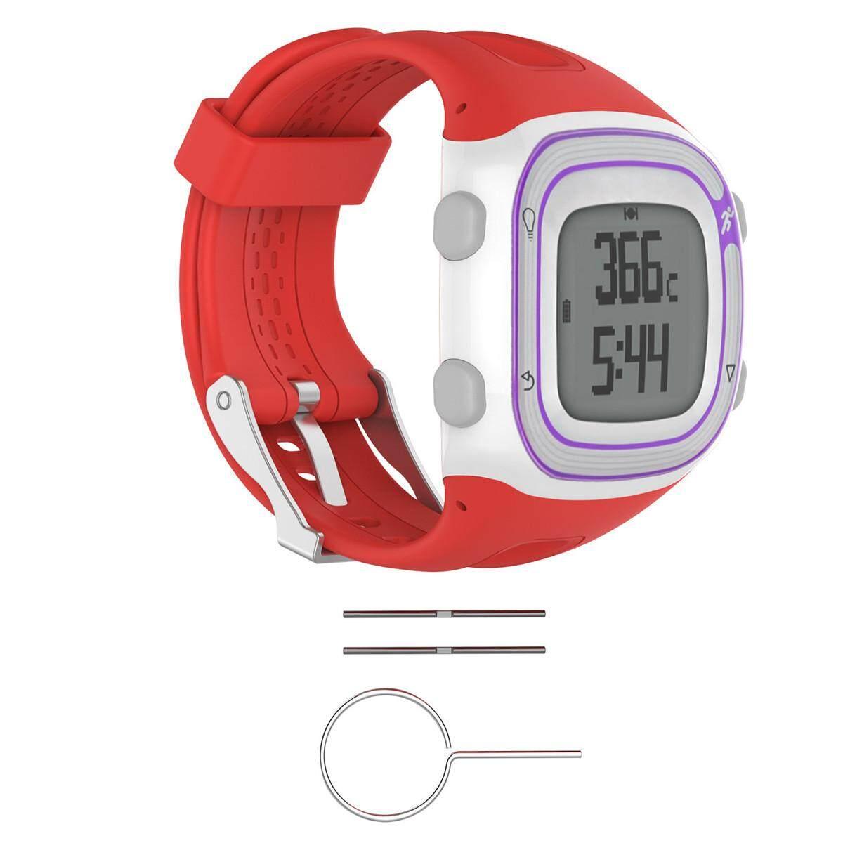Hình ảnh Watch Silicone Wrist Band Strap +Tools For Garmin Forerunner 10 / 15 GPS Running #red men