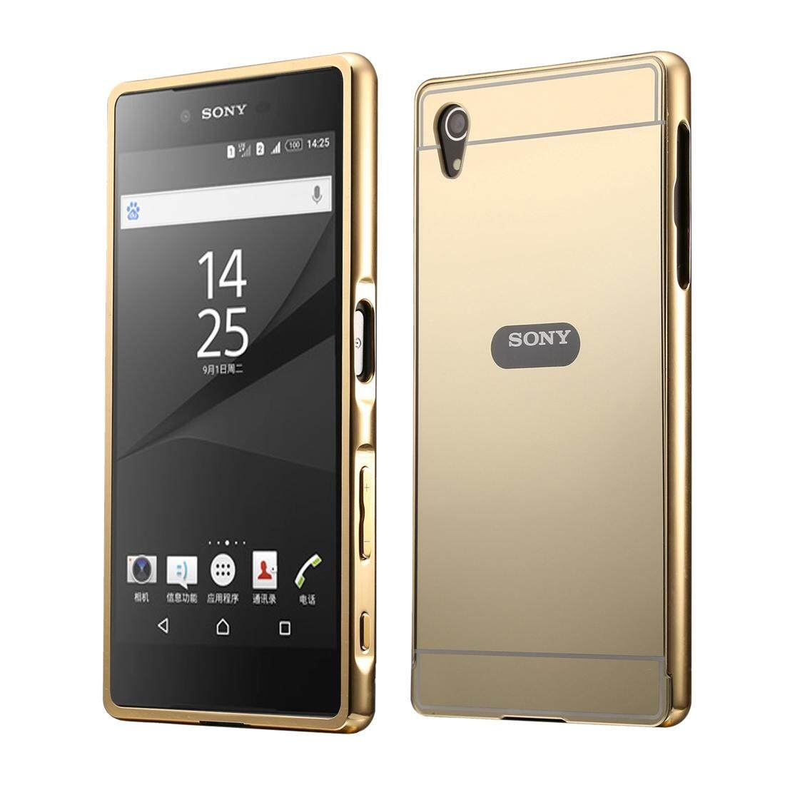 Features For Sony Xperia Z3 Compact D5803 M55w Sliding Metal Bumper Touch Screen D5833 Mini Original Black Frame Case Gold
