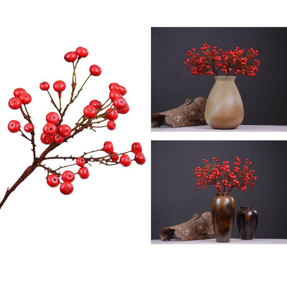 XINGYUFEI Artificial Flowers Home Decor Rich Fruit Peony Flowers Simulation Plant Berries