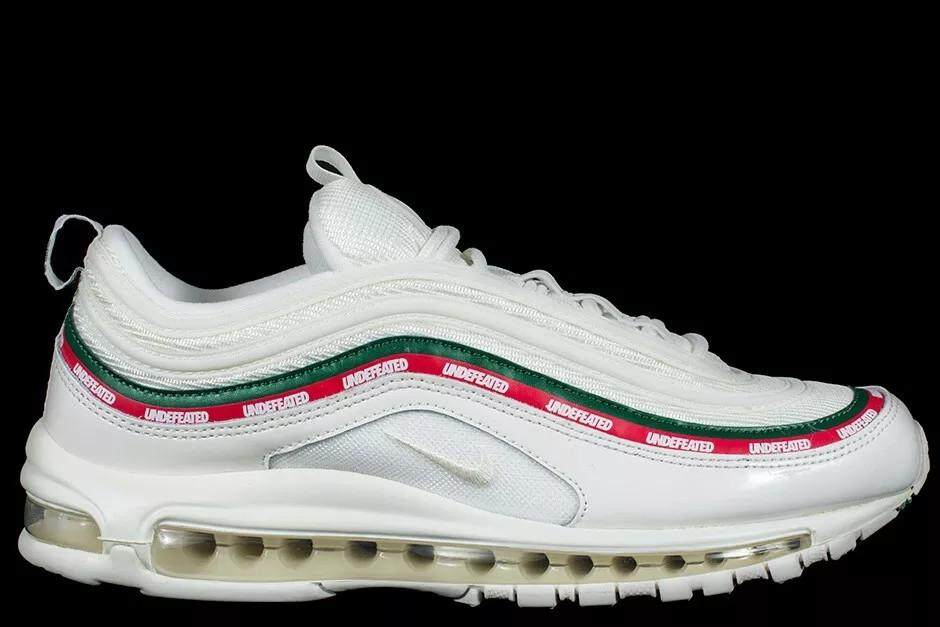 Nike Air Max 97 Undefeated White Red/Green AJ1986-100 Women and Mens Sneaker - intl