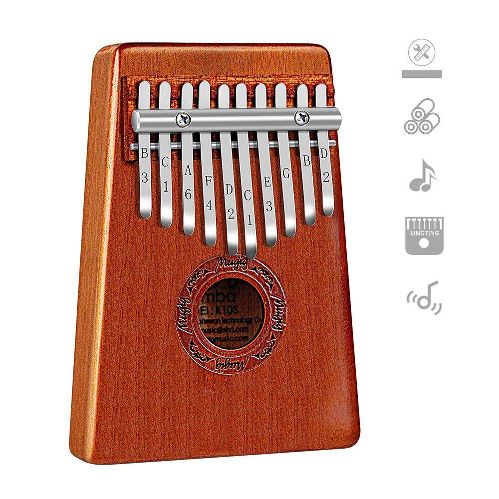 Niceeshop 10 Key Kalimba Thumb Piano,beautiful Mahogany Thumb Harp,an African Thumb Piano For Kids Is A Perfect Introduction To Music,the Traditional Kalimba Instrument Is Perfect For A Beginner - Intl By Nicee Shop.