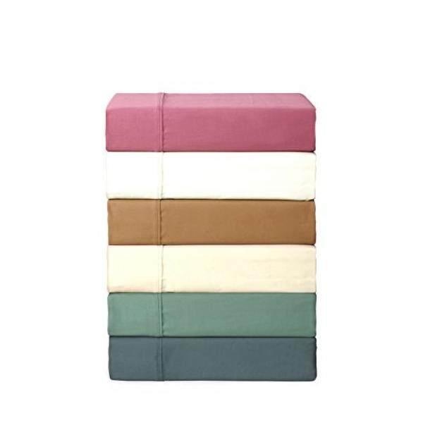 Linen Home 700 Thread Count Luxury Satin Sheet Set, Rich Cotton, Satin Weave, Twin Sheets, Deep Pockets,3-Piece Twin Bed Sheet Set, Blue - intl
