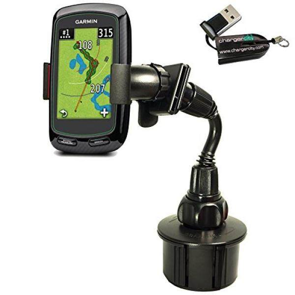 ChargerCity Bendy Drinks Cup Holder Mount for Golf Buddy Tour Voice World Platinum VS4 Garmin Approach G3 G5 G6 G7 G8 IZZO Swami SkyCaddie Touch SGX Breeze RangeFinder GPS Iphone Galaxy S7 smartphone - intl