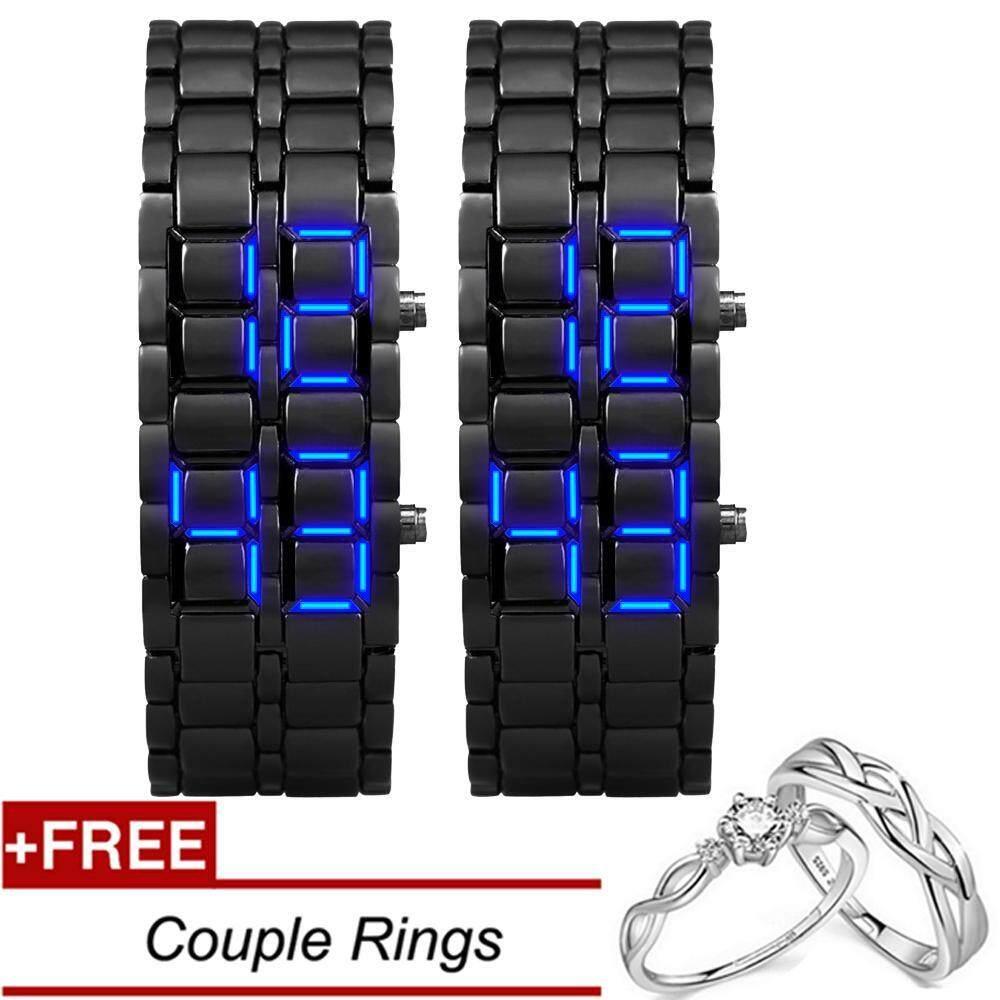 Beberapa Jam Tangan Olahaga Tahan Air Elektronik Generasi Kedua Biner Digital LED Jam Tangan Pria Paduan