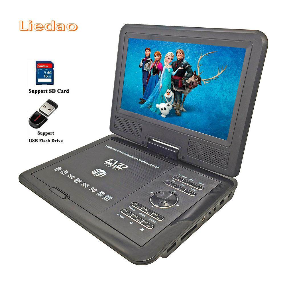New 9.8inch Portable DVD Player Rechargerable Battery Game Player Radio Portable Analogue TV AV SD / MS / MMC Card Reader - intl