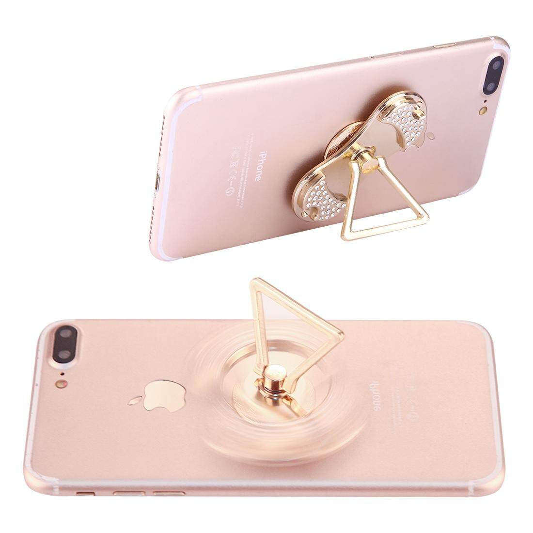 Hình ảnh Diamond Encrusted Phone Triangle Holder Fidget Spinner Toy Stress Reducer Anti-Anxiety Toy, About 1 Minute Rotation Time - intl