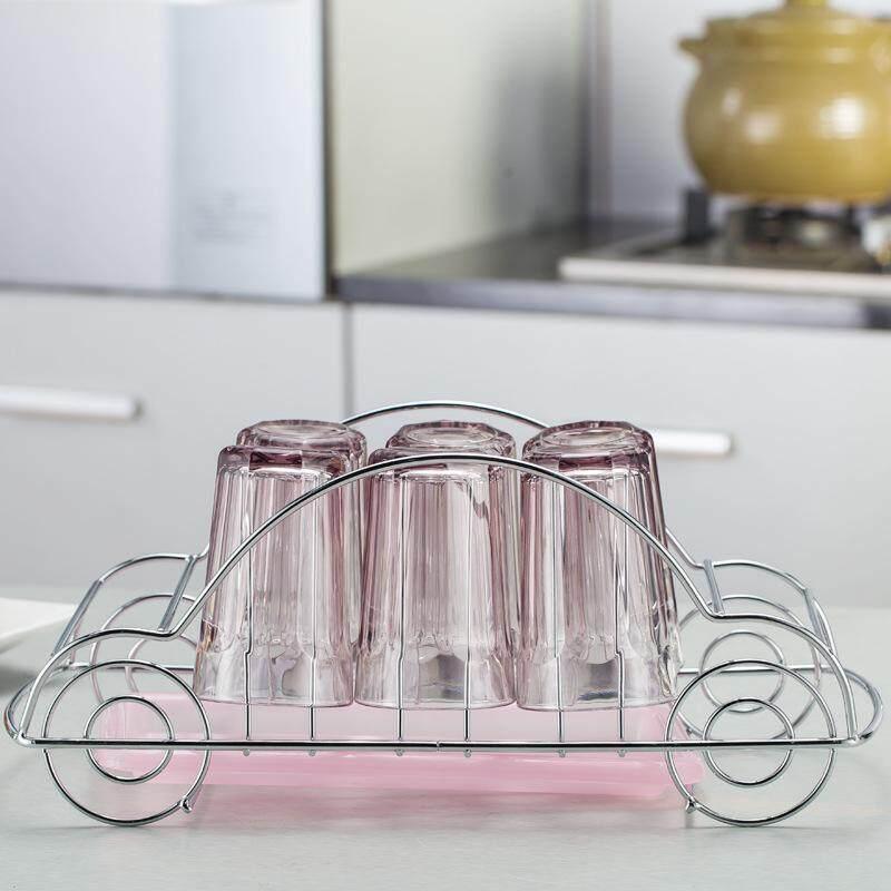Modis Anggur Kaca Penahan Mobil Model Cangkir Penyangga Rumah Dapur Gantungan Drainer Shelf Penyimpanan Dryer Rak