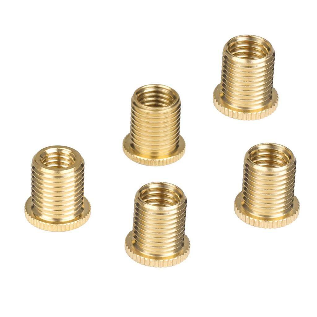Detail Gambar Miracle Bersinar 5 Pcs Aluminium Paduan Perlengkapan Shift Tombol Benang Adaptor Kacang Memasukkan Set