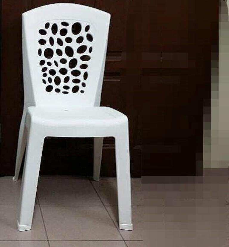 Plastic Chair -Cafe style-White-2 Units