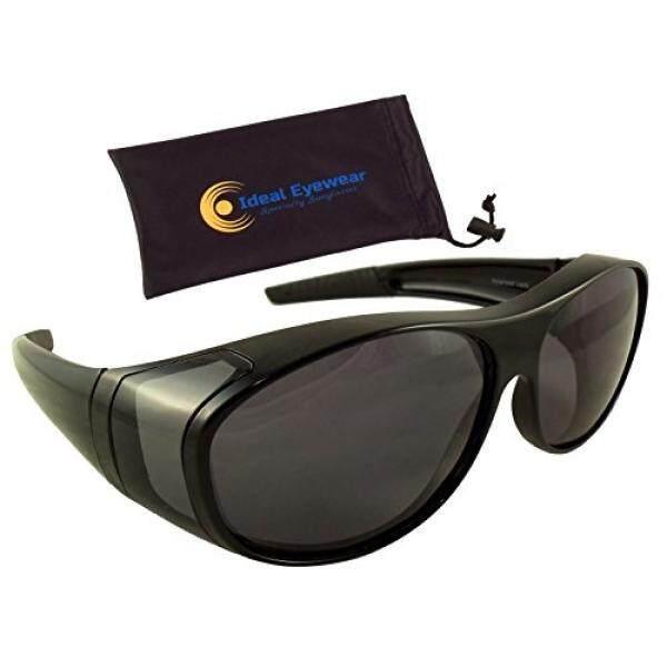 Matahari Perisai Sesuai Lebih Kacamata Hitam dengan Lensa Terpolarisasi Oleh Ideal Kacamata-Kenakan Kacamata Resep-Bagus untuk Memancing, berperahu, Golf, & Mengemudi-Internasional