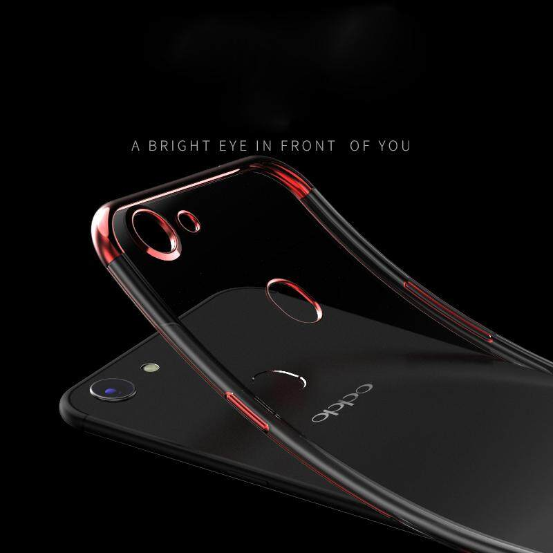 ... Transparent Clear Electroplate Soft Silicone TPU Phone Case Phone Cover For OPPO F7 for oppo f7 ...