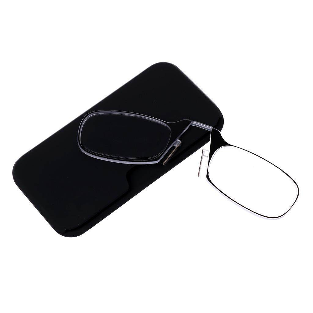 +2.00 Mini Nose Clip Reading Glasses Presbyopic Eyeglass Spectacles Resin Len - Intl By Qianstore.
