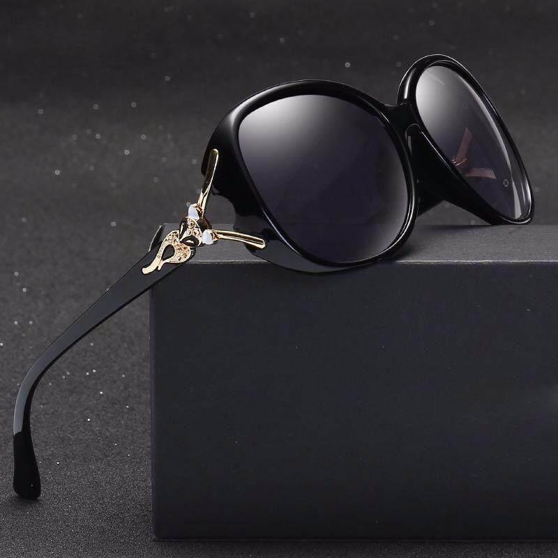 6e324d20550 VEITHDIA 8842 Fashion UV400 Women s Brand Oval Frame Designer Sunglasses  Polarized for Women Black grey