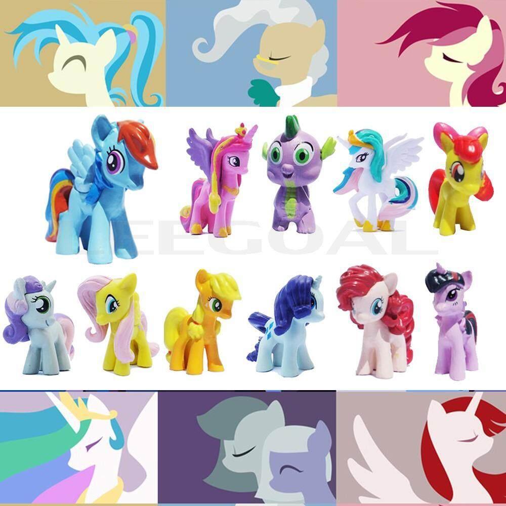 Womdee Leegoal Cool Baby Mini Dolls Lot 12pcs My Little Pony Friendship Is Magic Cake Figure Kids Toy - Intl - Intl By Womdee.