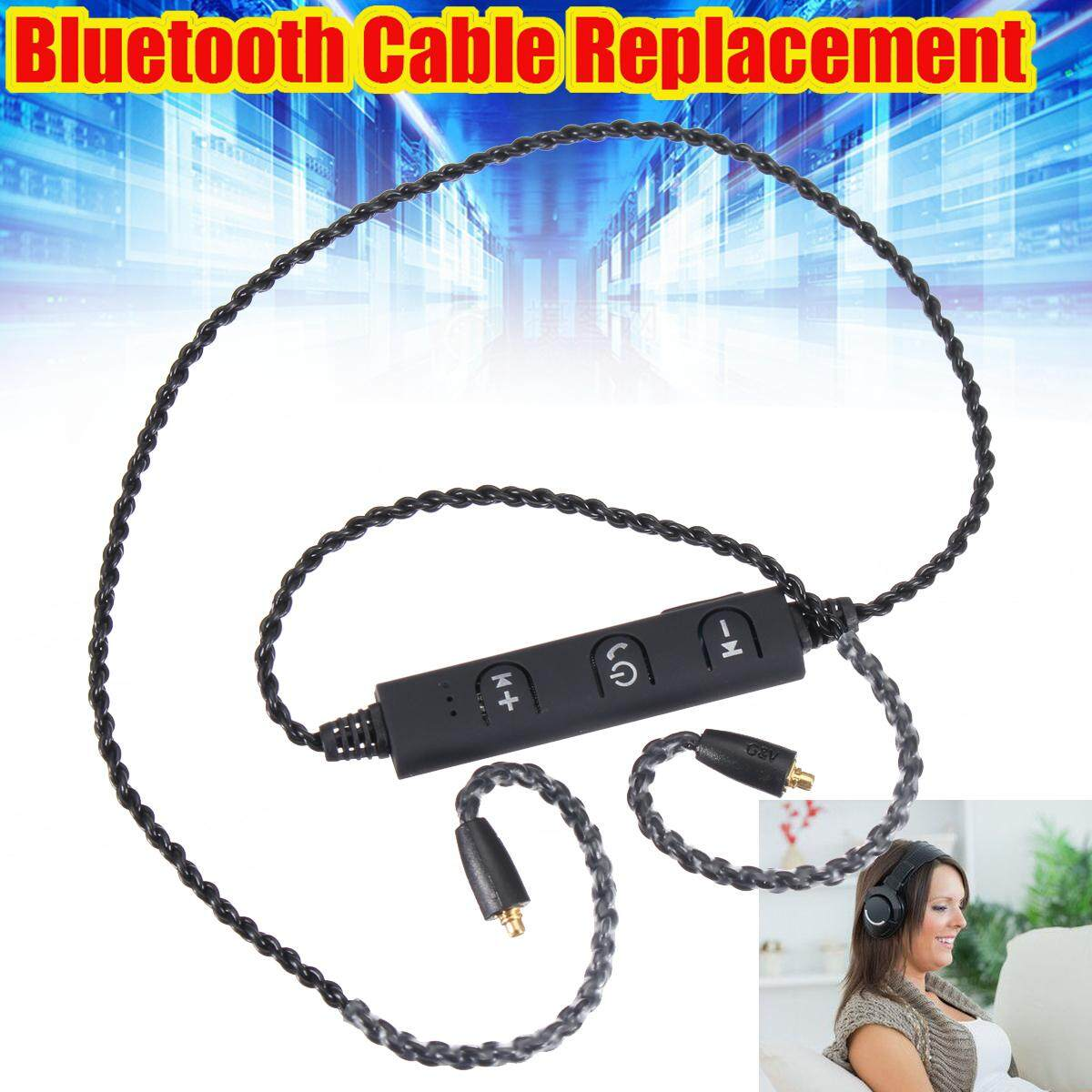 Great Deal Mmcx Bluetooth Earphone Cable Cord Csr4 1 For Shure Se215 Se535 Ue900 Black Intl