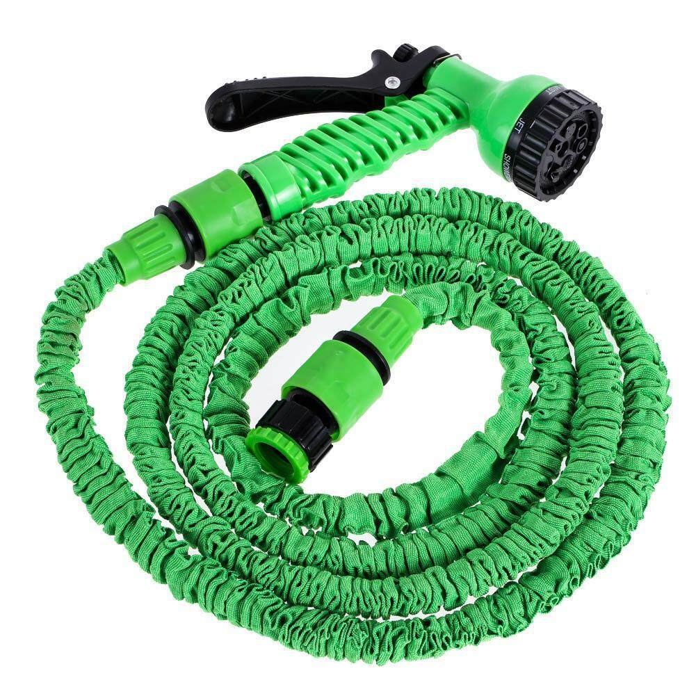 Deluxe 25 Feet Expandable Flexible Garden Water Hose w/ Spray Nozzle - intl